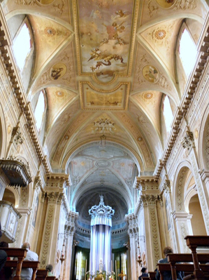 Abside e soffitto della Chiesa di San Floriano Martire di Mardimago (RO)